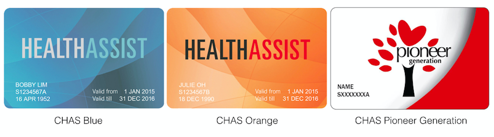 The different types of CHAS cards